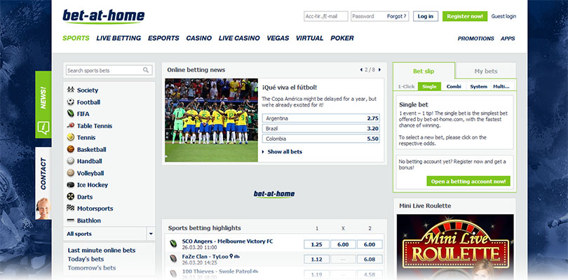 bet-at-home homepage
